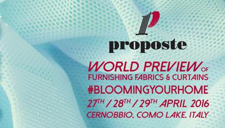 PROPOSTE FAIR 2016 – LAKE COMO (MILAN)
